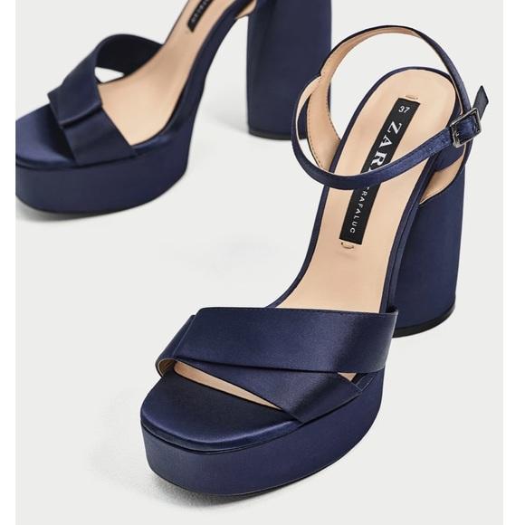 e9b0e7851829 Zara High Heel Platform Sandals